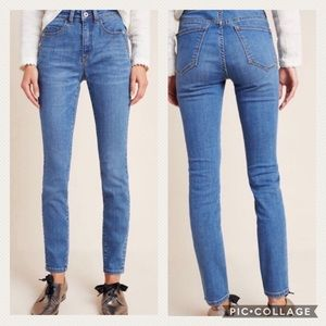 Anthro | Pilcro Superscript high rise skinny jeans